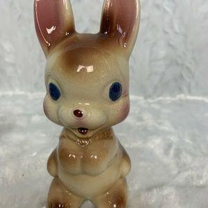 Vintage Bunny Rabbit Figurines Ceramic Kitsch 6″ P